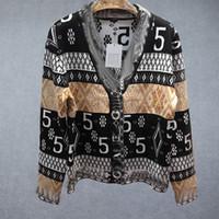 Женская мода V-образным вырезом жаккардовый свитер кардиган черно-белое плещеное пальто свитер длинный свитер Бесплатная доставка
