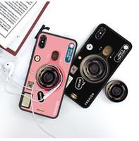 Para Iphone 11 pro xr x max 8 7 6 más teléfonos caso pata de cabra cámara de la vendimia cubierta Holder láser de dibujos animados con soporte de aire teléfono móvil