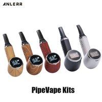 정통 Anlerr PipeVape 드라이 허브 기화기 펜 키트 1000mAh의 배터리 OLED 화면 세라믹 난방 TC 담배 베이킹 Vape는 파이프 정품 흡연