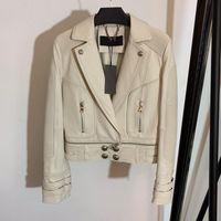 Yüksek Kalite Yeni Moda 2020 Tasarımcı Ceket kadın Aslan Düğmeleri Sentetik Deri Motosiklet Ceket