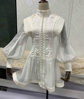 In de vroege herfst van 2020, dezelfde driedimensionale tailoring, knoop-down en bubble mouw jurken van beroemde dames van minderheidszemelen