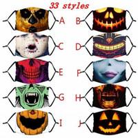 Kabak Grimace Pamuk Yüz Yeniden kullanılabilir Koruyucu PM2.5 Carbon Maske Boyama 2020 Halloween Yeniden kullanılabilir 3D Yıkanabilir Yetişkin Çocuk Yüz Maskesi Filtreler