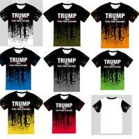 زائد الحجم الرئيس ترامب المصممين تي شيرت النساء الرجال Luxurys بلايز قصيرة الأكمام بلايز المحملة 3D الطباعة الرياضة عارضة الملابس S-5XL E82601