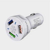 지능형 3 USB 차량용 충전기 어댑터 자동차 충전기 폰을 충전 QC 3.0 듀얼의 USB 포트 자동차 충전기 고속 빠른