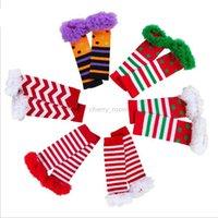 Рождество Младенец Девушка грелка нога Новая высокого качество младенец хлопка носки способ нашивка Dots шнурок марля Leg Теплой Детские колготки Подогреватели S492