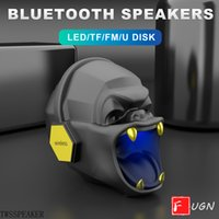 2020 Nuovo altoparlante testa del cranio portatile altoparlante wireless teschio altoparlanti Bluetooth cristallo trasparente stereo suono ricco di bassi