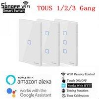 SONOFF T0 TX EU / US Смарт WiFi коммутаторы с 1/2/3 Gang Wireless Wifi коммутаторе для Alexa Google Home Smart Home
