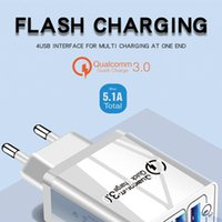 Quick Charge 3.0 Carregador USB Universal 4 portas carregamento rápido Eu Us Plug Power Adapter Para Samsung S10 Ip 11 Tablet Carga