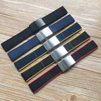 Breitling Kayış Navitimer DÜNYA Avenger Navitimer bilezik için Top Kalite 22mm Siyah Sarı Kırmızı Mavi Naylon Kauçuk İzle bant