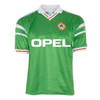 Ретро Ирландия 1988/90 Главная Футбол Трикотажные Aldridge Moran Урожай ирландский футбол рубашка Классический комплект Tops