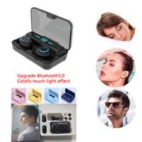 TWS sem fios Bluetooth 5.0 Headphone Toque auriculares estéreo dupla Ear display HD chamada Led Poder Com Power Bank IPX5 fone de ouvido à prova d'água