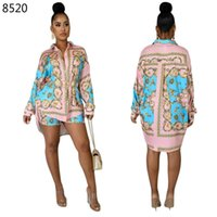 Summer 2 Pieces Set Sexy Fashion Women Floral Print Long Sle...
