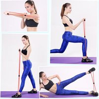 8 elástico Tipo elástica tensión de la cuerda aptitud de la gimnasia del anillo de goma con cordón práctica de la danza estiramiento de la correa de la correa de la yoga