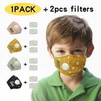 4 colori I bambini maschere per il viso maschera viso Stelle Stampa con respirazione rubinetto design Bocca di copertura con filtro 2pcs 200pcs YYA404