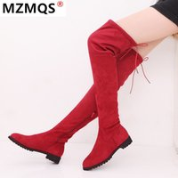 Fashion Stiefel Sexy Over The Knee High Suede Damen Schneestiefel Damenmode-Winter-Schenkel-hohe Schuhe Frau Botas Mujer