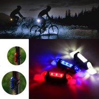 USB Rechargeable Bike Light Front and Rear Bicycle Light Set Scooter 4 Modes Cycling Flashing Safety Warning Lamp
