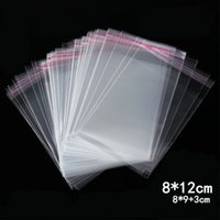 1000pcs 8*12cm Clear Self Adhesive Plastic Bag Resealable Christmas Gift Cookie Candy Packaging Bag Home Wedding Decoration