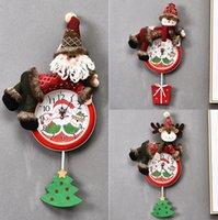 Hanging Christmas Clock Papai Noel Natal do boneco de suspensão Relógio de parede Merry Xmas Início Restaurante Quarto Clocks Decoração LJJP295