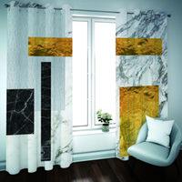 Benutzerdefinierte Fenster Vorhang HD Geometrie Vorhänge für Wohnzimmer-Mädchen-Raum Schlafzimmer Verdunkelungsvorhänge