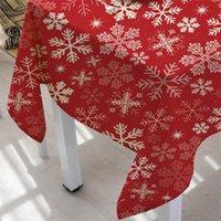 Table Cover di Natale della decorazione della Tabella Panno pranzo rettangolare Miscela Home Decor Tessile per la casa Biancheria Coperchio di natale