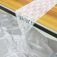 Sashes 18x275CM стул стула кружевной полосы украшения для свадьбы рождественские украшения вечеринки, 20 шт.
