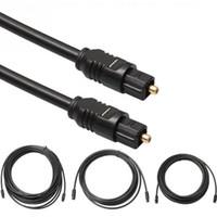 Audio Digital Optical Cable Toslink chapado en oro de 1,5 m 1 m 2 m 3 m 5m 10m SPDIF MD DVD chapado en oro AUX Cable