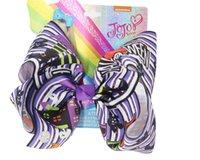 10pcs JOJO SWIA arcos del pelo de 8 pulgadas grandes clips de Halloween Bows Boutique cocodrilo clip de la cinta grosgrain H Accesorios para los bebés