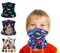 Sıcak Çocuklar Sihirli Bandanas Polyester Kafa Çocuklar Için Açık Spor Binme Paten Yüz Maskesi Boyun Önlüğü Sevimli Karikatür Dinozor Başörtüsü