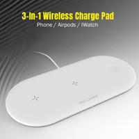 3-in-1-WLAN-Ladegerät-Pad Qi Universal 10W Schnellladung für Smart-Mobiltelefone APLE-Uhr-Ohrhörer