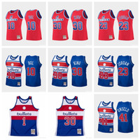 Hombres Washington Bullets 23 Jordan Strickland Ben Wallace 10 Bol 30 King Mitchellness 1996-97 Hardwoods Classics Swingman Jersey