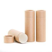 50 adet Boş Kağıt Kabuk Ruj Tüpleri Kapaklı Dudak Balsamı Chapstick Tutucu DIY Makyaj Araçları Doldurulabilir Konteyner