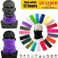 Ship from US Cycling Unisex Magic Head Face Protective Mask Neck Gaiter Biker's Tube Bandana Scarf Wristband Beanie Outdoor Sports FY7026
