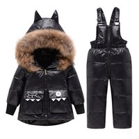 Winter Jackets For Kids Snowsuits Autumn Hooded Down Parka Coat Girls Boys Toddler Outerwear Children Warm Overalls Jumpsuits 0927