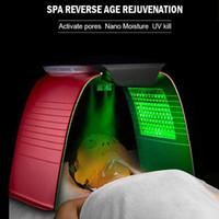 Портативный PDT Светодиодная светодиодная терапия Омоложение кожи Омоложение Фотодинамическая лампа для обработки 7 Цветов Фотон Салон красоты для лица SPA