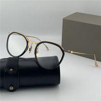 패션 디자인 광학 안경 131 라운드 레트로 K 골드 프레임 빈티지 간단한 스타일 투명 유리 최고 품질의 명확한 렌즈