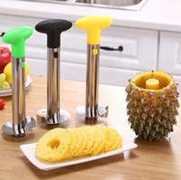 Peeler de Aço Inoxidável Peeler Fruit Fruit Slicer Peeler Removedor Removedor Cortador Abacaxi Folhas de Cozinha Ferramenta SN1558