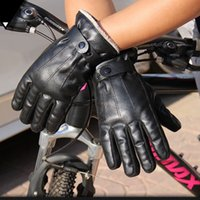 2020 New Cool Men Cycling Driver Winter Gloves Faux Leather ...