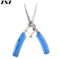 Нержавеющей сталь Split Ring Рыбалка Клещи 14.5 Рыба Используйте ножницы для Приманка Rod Line Cutter Hook Remover инструмента с Оксфордской оболочкой