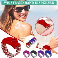 5PC desinfectante de la mano de dispensación portátil a mano pulsera pulsera de la mano Desinfectante de dispensación Dispensador Dispensador usable Bombas 10ML