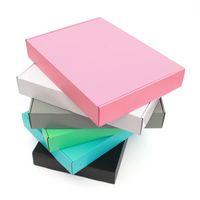 10pcs Kraft Box all'ingrosso pacchetto di colore piccolo regalo scatola vuota parrucche 3 strati ondulato Box Commodity Imballaggio