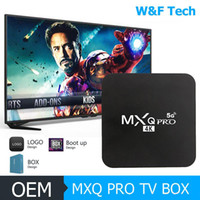 Hot MX2 MXQ PRO RK3229 1 Go 8 Go / 16 Go 2 Go Quad Core Android 9.0 TV BOX Avec 2.4G 5G WiFi 4K Media Player