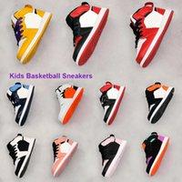 소년 소녀 노란색 미드 컷 퍼플 P (그녀의) spective Lakerss 리틀 키즈 농구 신발 부서진 척추 교정 J1s 중순 유아 JI 시카고 운동화