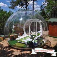 sala de 5m com túnel 2m inflável comercial bolha transparente Camping barraca inflável tenda globo transparente