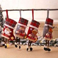 Desenhos animados da árvore de Natal da manta Meias Adorno Natal da boneca pingentes Papai Noel Lareira pingentes presentes bonitos do Natal