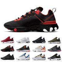 스크립트 신발을 실행 요소 (55) 남성은 55 세 태양 레드 메탈릭 골드 배 블랙 솔기 블루 남성 여성 트레이너 스포츠 운동화로 녹화 반응 반작용