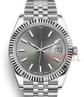 الفضة رجالي ووتش 2813 الميكانيكية التلقائي الحركة 41 ملليمتر الفولاذ المقاوم للصدأ أزياء الرجال تاريخ فقط مصمم الرجال ساعات المعصم