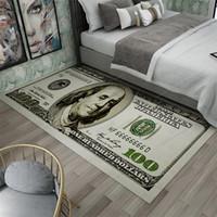 크리 에이 티브 미끄럼 깔개 현대 홈 인테리어 카펫 러너 달러 인쇄 카펫 100 달러 100 빌 인쇄