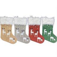 Navidad Socking decorativo Calcetines de Navidad del copo de nieve bolsa de Elk regalo para los niños Bolsas de Navidad Decoraciones de Navidad IIA458