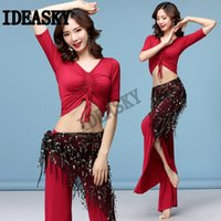 sexy belly dance costume set women competition bellydance oriental professional top and pants set hip scarf practice dancewear