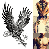 Mode Adler Muster Wasserdicht Tattoo Temporary Body Art Tattoo Schulter Kasten Tattoo-Aufkleber Personality Tattoos Mann